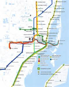 Miami Metro Rail Map by Miami Metro Map Online Map