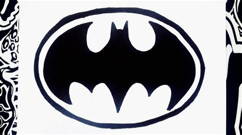 imagenes de batman kawaii como dibujar el logo de batman how to draw batman youtube