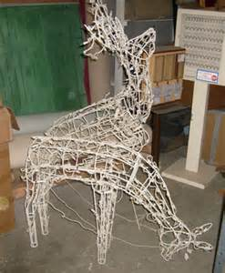 outdoor lighted reindeer decoration all about props outdoor decorations
