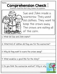 Kindergarten Questions And Answers by Stories With Comprehension Questions Grade Literacy Comprehension