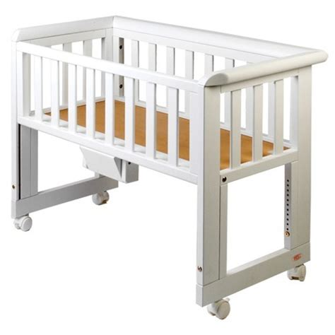 bed side cribs buy troll bedside crib white preciouslittleone