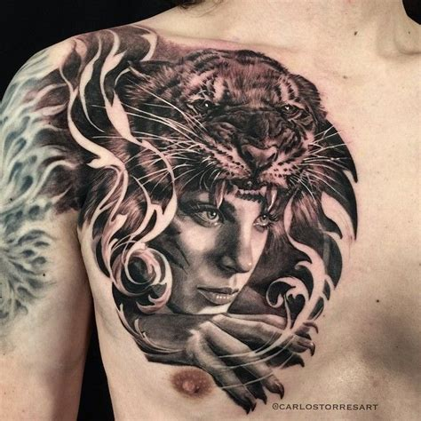 carlos torres tattoo carlos torres with tiger headdress carlos torres