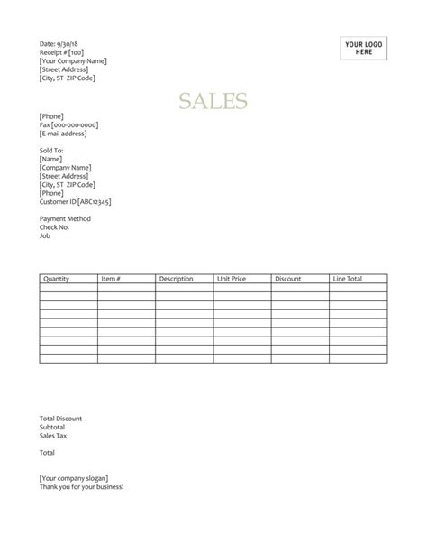12 Free Sales Receipt Templates Word Excel Pdf Docs Sales Receipt Template