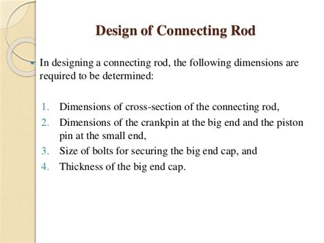 cross sectional area of rod basic automobile design