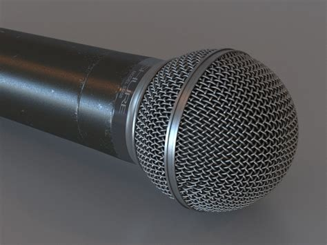 Original Shure Mic Sm58 3d microphone shure