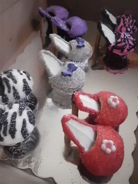 19 best images about high heel cup cakes on