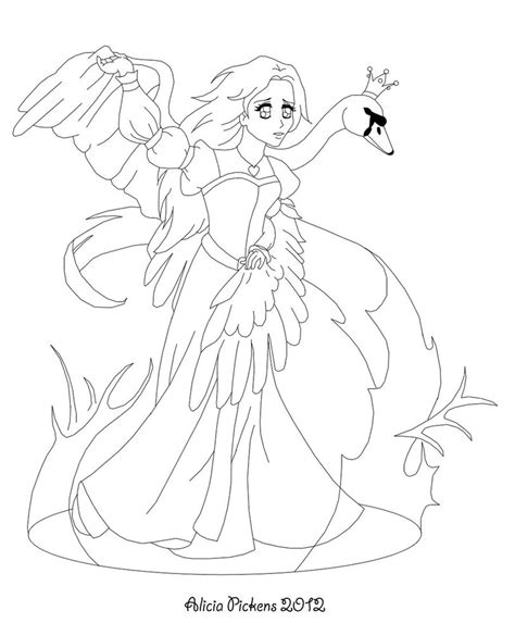 coloring pages swan princess swan princess transforms lines by licieoic on deviantart