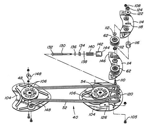 deere la115 belt diagram deere mower deck parts diagram get free image