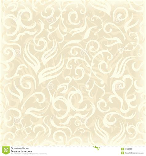 Vintage Seamless Floral Wallpaper Stock Photography Colored Art Paper L