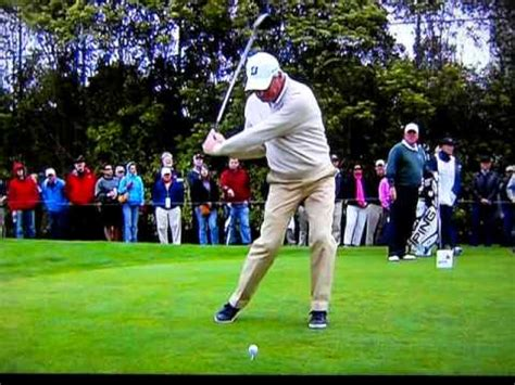 fred couples swing analysis fred couples slow motion 1 youtube