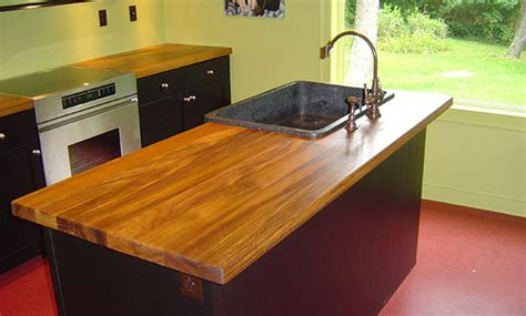 Teak Countertop by Teak Wood Island Counter With Sink By Grothouse