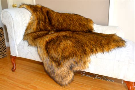 furry sofa premium grizzly bear throw sofa couch cushions pad faux fur