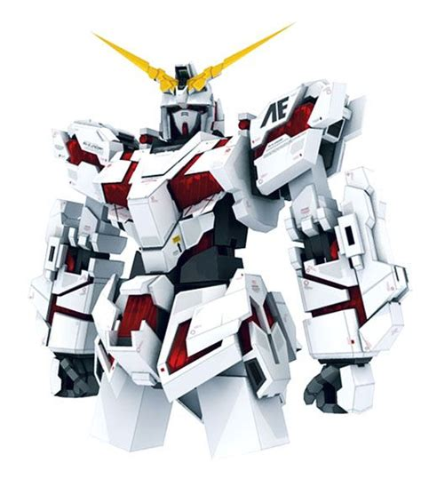 Gundam Unicorn Papercraft - gundam papercraft and unicorns on