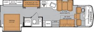 bunk bed rv floor plans thor motor coach introduces bunkhouse motorhomes in 7
