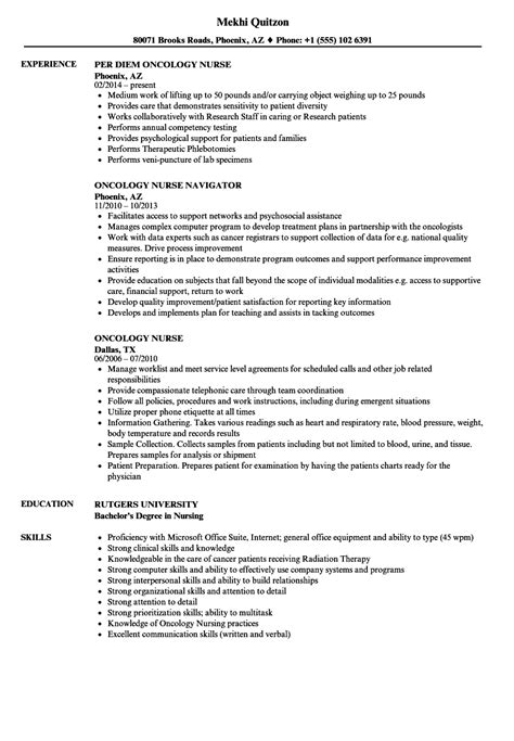 Oncology Resume by Oncology Resume Resume Ideas