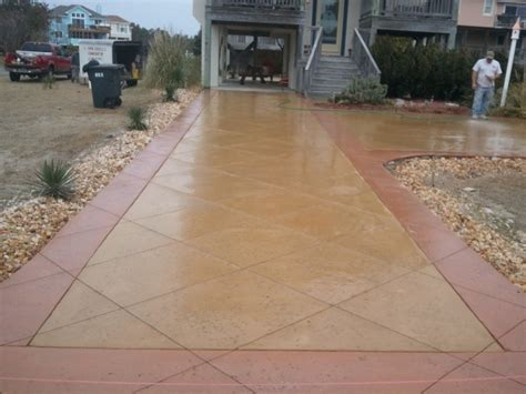 colored concrete driveway in monteray shores nc kenny