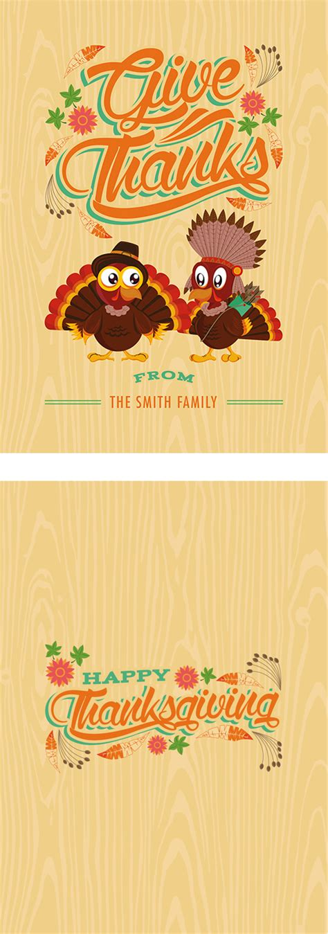 Thanksgiving Invitation Card Template by A Template Cornucopia Free Illustrator Photoshop