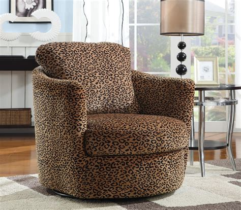 swivel accent chair in leopard pattern stargate cinema