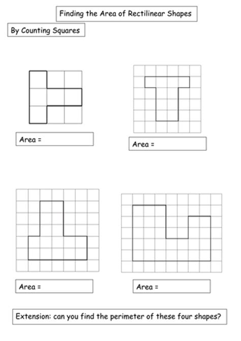 Rectilinear Shapes Worksheets differentiated rectilinear shapes worksheet by amwgauss