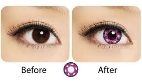 Geo Softlens Anime Cp A3 geo animation anime pink colored contact lenses