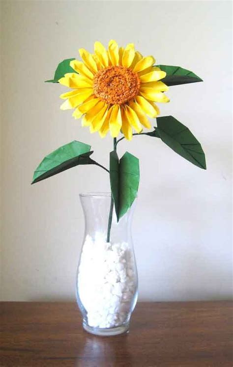 Origami Sunflower - origami sunflower graceincrease custom origami