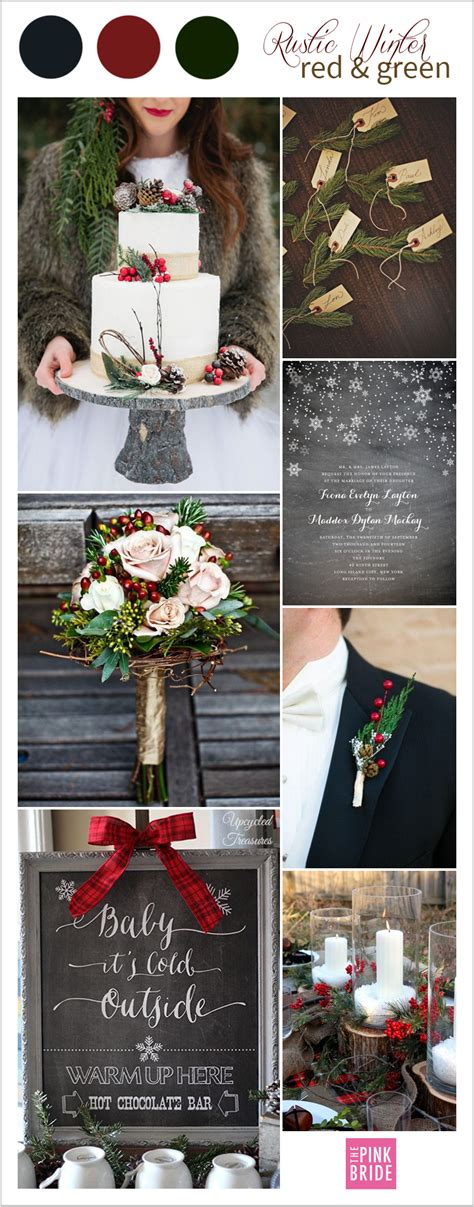Candlelight Color Wedding Color Board Rustic Winter Red Amp Green The Pink