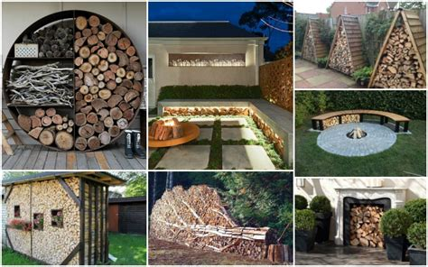 creative outdoor firewood storage ideas
