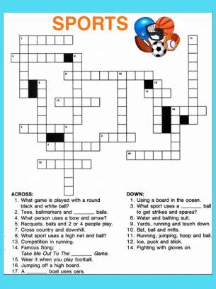 printable easy sports crossword puzzles printable crossword puzzles contactrebus puzzles mail