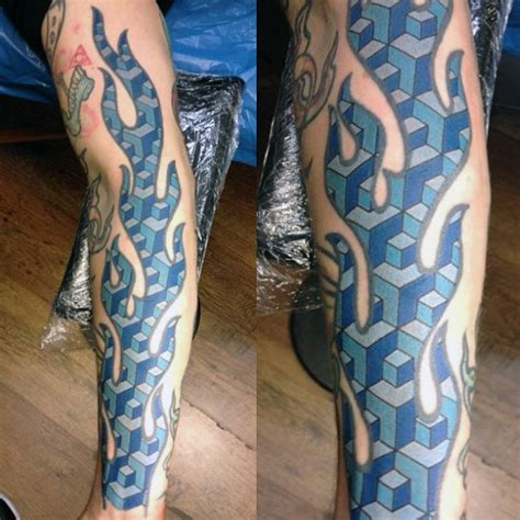 blue flame tattoo top 60 best tattoos for inferno of designs