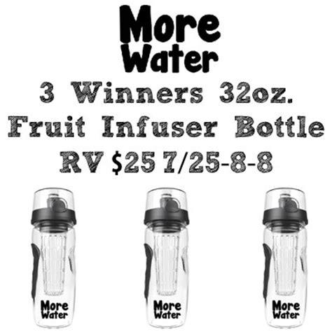Fruit Giveaway - more water fruit infuser bottle giveaway 3 winners jamericanspice