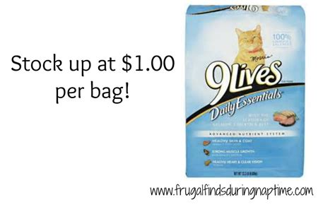 printable 9 lives cat food coupons publix 9lives cat food 1 00 frugal finds during naptime