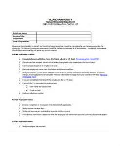 Termination Checklist Template by Termination Checklist Template Free Word Termination