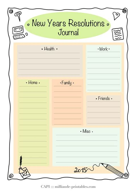 new year template printable resolution new year printable 2015 day planner template
