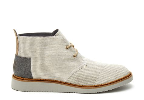 light grey mens shoes toms light grey pinstripe s mateo chukka boots in