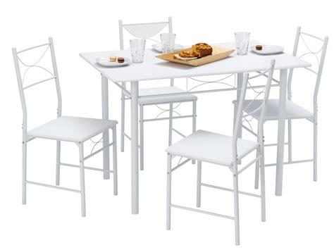 table de cuisine 4 chaises m 233 tal bois blanc combo