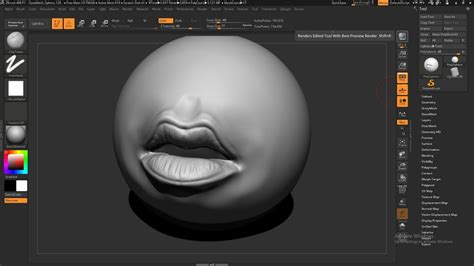 zbrush watch tutorial mouth sculpt zbrush 4r8 zbrush tutorial zbrush beginner