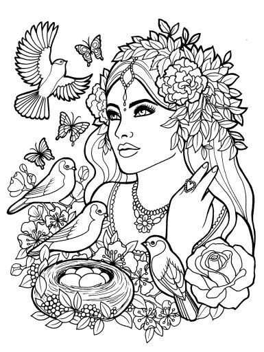 coloring pages for adults mythical fantasy myth mythical mystical legend elf elves coloring