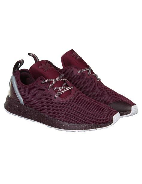 maroon adidas shoes adidas originals zx flux racer asym shoes maroon