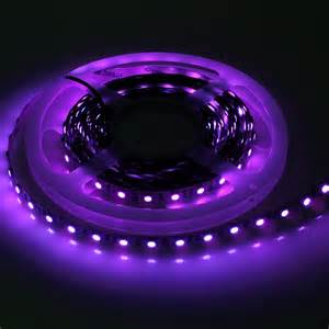 Uv Led Light Strips 5m Uv 395 405nm Ultraviolet 5050 Smd Led 300leds Black