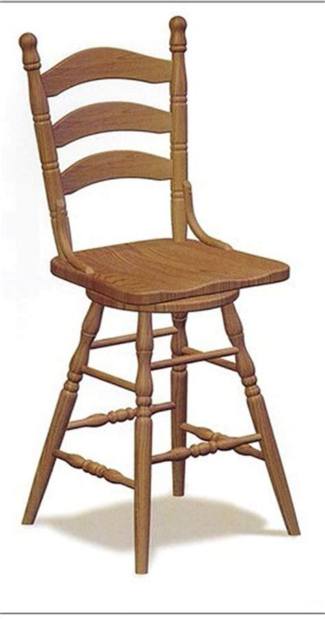 Amish Oak Bar Stools by Amish Chairs Amish Bar Stool Chairs Swivel Ladder Back Oak