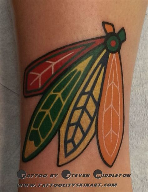 chicago blackhawks tattoo 38 best chicago blackhawks tattoos images on