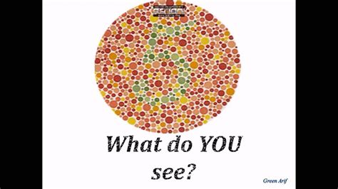color blind in color blindness test and the ishihara test army