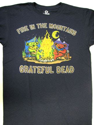 grateful dead fire   mountains shirt woodstock trading company
