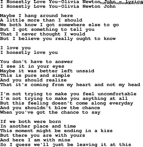 olivia newton john i honestly love you lyrics love song lyrics for i honestly love you olivia newton john