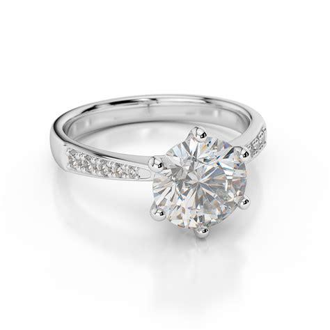 d vvs1 engagement ring 2 carat cut 14k white gold