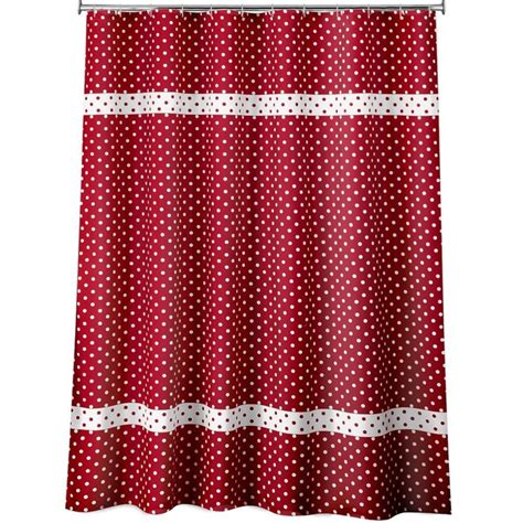 red and white polka dot shower curtain red and white polka dot shower curtain bathroom ideas