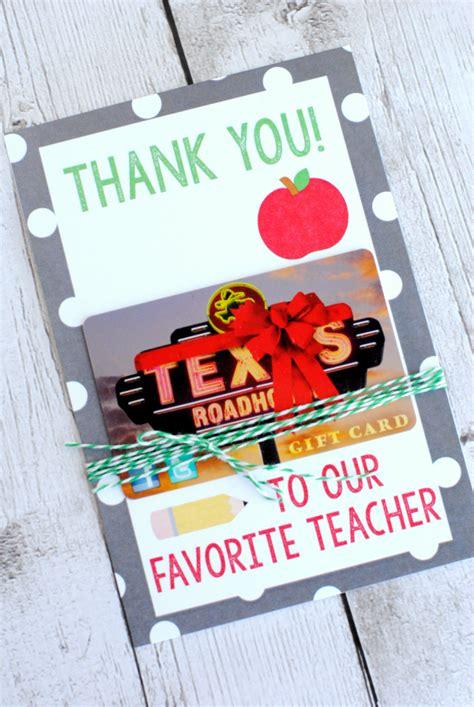 Printable Teacher Appreciation Gift Card Holder - teacher appreciation gifts printable gift card holders