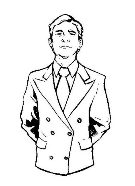 dibujos para nios de hombres para colorear pintar dibujo de hombre con saco y corbata para pintar y colorear