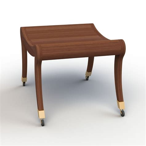 bench brief short bench with wheels 3d model max obj fbx cgtrader com