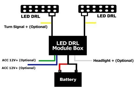 car led daytime running light fog l drl relay harness